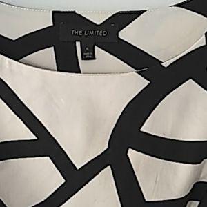 Limited black and cream sleeveless dress size 6
